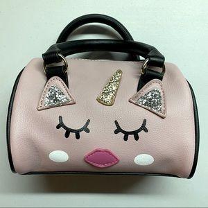 Betsey Johnson Small Unicorn Face Zip Up Handbag